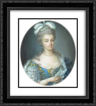 Portrait of Marie Antoinette 20x22 Black or Gold Ornate Framed and Double Matted Art Print by Anne Vallayer Coster