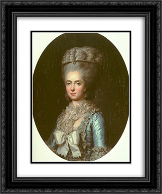 Portrait of Princess Marie Adelaide of France, called Madame Adelaide 20x24 Black or Gold Ornate Framed and Double Matted Art Print by Anne Vallayer Coster