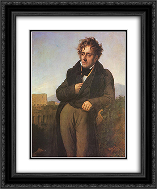 Chateaubriand Meditating on the Ruins of Rome 20x24 Black or Gold Ornate Framed and Double Matted Art Print by Anne Louis Girodet