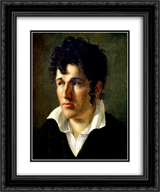 Francois-Rene de Chateaubriand 20x24 Black or Gold Ornate Framed and Double Matted Art Print by Anne Louis Girodet