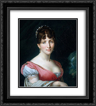 Hortense de Beauharnais 20x22 Black or Gold Ornate Framed and Double Matted Art Print by Anne Louis Girodet