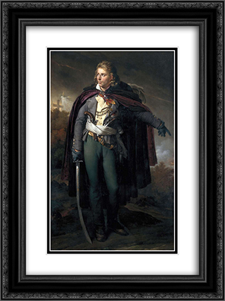 Jacques Cathelineau (1759-1793), generalissime vendeen 18x24 Black or Gold Ornate Framed and Double Matted Art Print by Anne Louis Girodet
