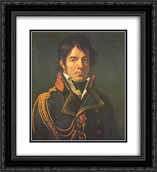 Le baron Jean-Dominique Larrey 20x22 Black or Gold Ornate Framed and Double Matted Art Print by Anne Louis Girodet