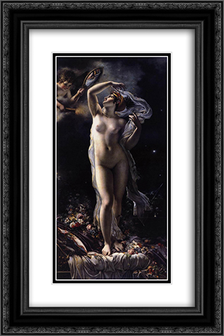 Mademoiselle Lange as Venus 16x24 Black or Gold Ornate Framed and Double Matted Art Print by Anne Louis Girodet