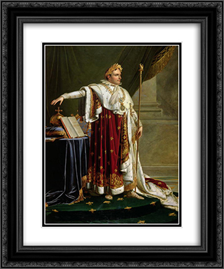 Napoleon I in Coronation robes 20x24 Black or Gold Ornate Framed and Double Matted Art Print by Anne Louis Girodet