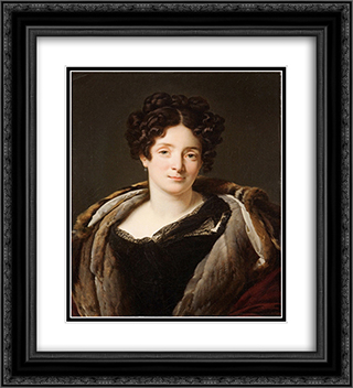 Portrait d'Odette Desiree Therese Godefroy de Suresnes 20x22 Black or Gold Ornate Framed and Double Matted Art Print by Anne Louis Girodet