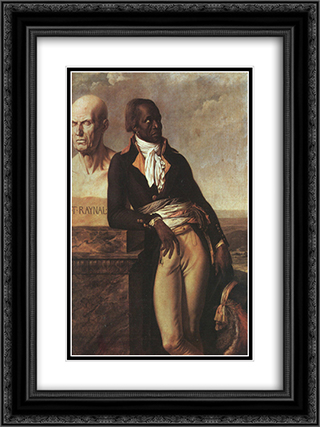 Portrait of Jean-Baptiste Belley 18x24 Black or Gold Ornate Framed and Double Matted Art Print by Anne Louis Girodet