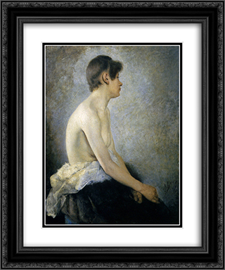 Half Nude 20x24 Black or Gold Ornate Framed and Double Matted Art Print by Anton Azbe