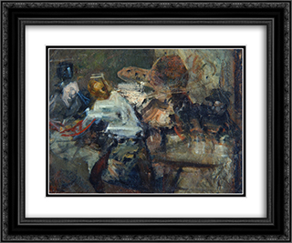 In a Studio 24x20 Black or Gold Ornate Framed and Double Matted Art Print by Anton Azbe