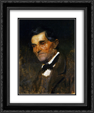 Portrait of a man in a bow tie 20x24 Black or Gold Ornate Framed and Double Matted Art Print by Anton Azbe