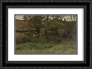 De moestuin 24x18 Black or Gold Ornate Framed and Double Matted Art Print by Anton Mauve