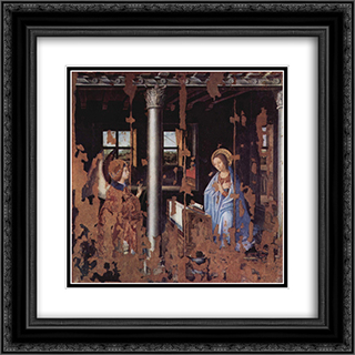 Annunciation 20x20 Black or Gold Ornate Framed and Double Matted Art Print by Antonello da Messina