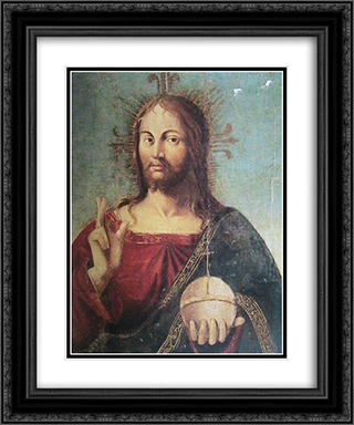 Christ 20x24 Black or Gold Ornate Framed and Double Matted Art Print by Antonello da Messina
