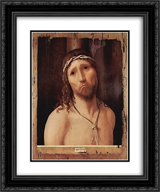 Ecce Homo 20x24 Black or Gold Ornate Framed and Double Matted Art Print by Antonello da Messina