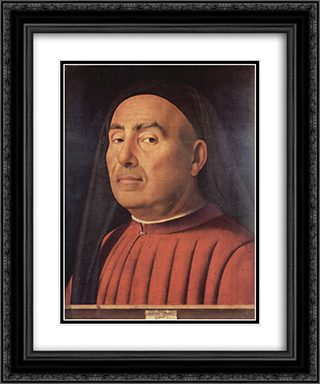 Portrait of a Man (Trivulzio portrait) 20x24 Black or Gold Ornate Framed and Double Matted Art Print by Antonello da Messina