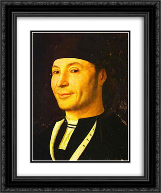 Portrait of an Unknown Man 20x24 Black or Gold Ornate Framed and Double Matted Art Print by Antonello da Messina