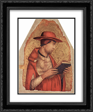 St. Jerome 20x24 Black or Gold Ornate Framed and Double Matted Art Print by Antonello da Messina