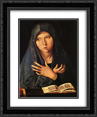 Virgin of the Annunciation 20x24 Black or Gold Ornate Framed and Double Matted Art Print by Antonello da Messina