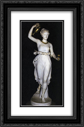 Hebe 16x24 Black or Gold Ornate Framed and Double Matted Art Print by Antonio Canova