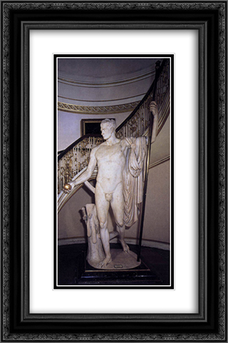 Napoleon as Mars the Peacemaker 16x24 Black or Gold Ornate Framed and Double Matted Art Print by Antonio Canova