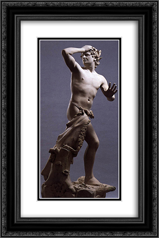 Orpheus 16x24 Black or Gold Ornate Framed and Double Matted Art Print by Antonio Canova