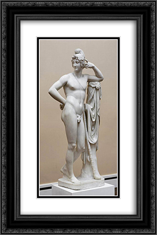 Paris 16x24 Black or Gold Ornate Framed and Double Matted Art Print by Antonio Canova