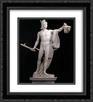 Perseus with the Head of Medusa 20x22 Black or Gold Ornate Framed and Double Matted Art Print by Antonio Canova