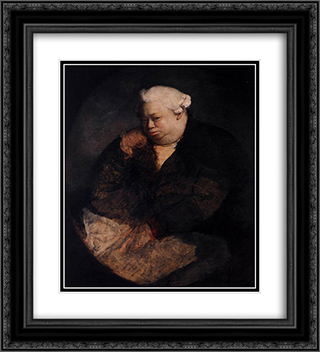 Portrait of Amadeo Svajer 20x22 Black or Gold Ornate Framed and Double Matted Art Print by Antonio Canova