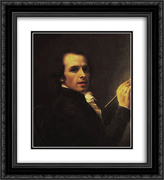Self-Portrait 20x22 Black or Gold Ornate Framed and Double Matted Art Print by Antonio Canova