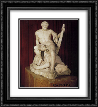 Theseus and the Minotaur 20x22 Black or Gold Ornate Framed and Double Matted Art Print by Antonio Canova
