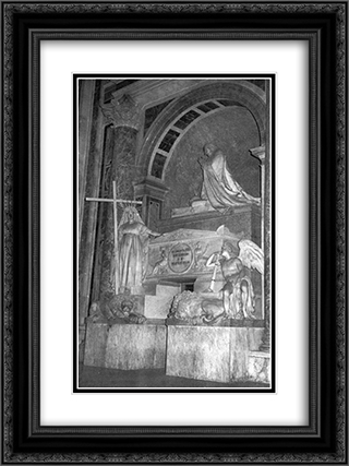 Tomb of Pope Clement XIII 18x24 Black or Gold Ornate Framed and Double Matted Art Print by Antonio Canova
