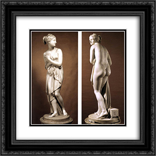 Venus Italica 20x20 Black or Gold Ornate Framed and Double Matted Art Print by Antonio Canova