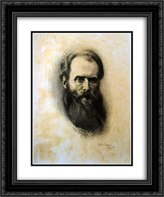 Auto-Retrato 20x24 Black or Gold Ornate Framed and Double Matted Art Print by Antonio Carneiro