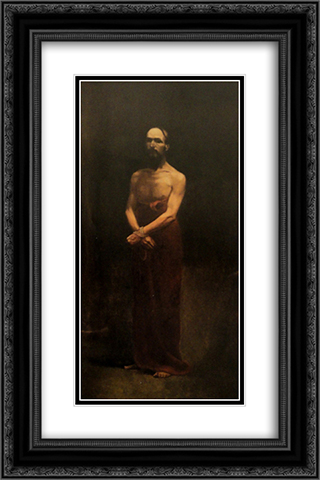 Ecce Homo 16x24 Black or Gold Ornate Framed and Double Matted Art Print by Antonio Carneiro