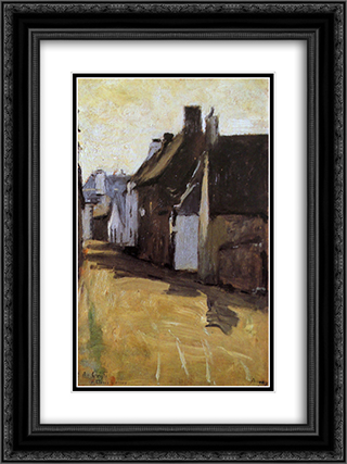 Rua BretÆ' 18x24 Black or Gold Ornate Framed and Double Matted Art Print by Antonio Carneiro