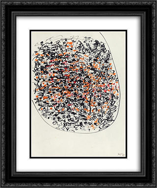 Manoscritti 20x24 Black or Gold Ornate Framed and Double Matted Art Print by Antonio Sanfilippo