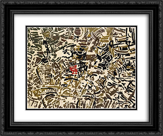 Metropoli 24x20 Black or Gold Ornate Framed and Double Matted Art Print by Antonio Sanfilippo