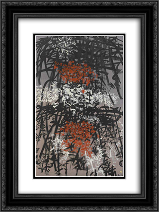 Rete complicata 18x24 Black or Gold Ornate Framed and Double Matted Art Print by Antonio Sanfilippo