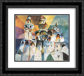 Bells. Ivan the Great Bell 22x20 Black or Gold Ornate Framed and Double Matted Art Print by Aristarkh Lentulov