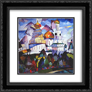 Churches, New Jerusalem 20x20 Black or Gold Ornate Framed and Double Matted Art Print by Aristarkh Lentulov