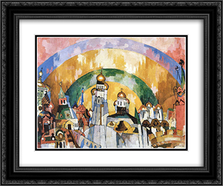 Nebozvon (Skybell) 24x20 Black or Gold Ornate Framed and Double Matted Art Print by Aristarkh Lentulov