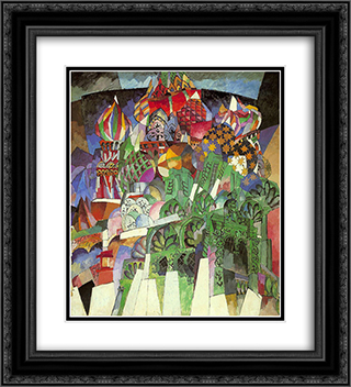 Saint Basil's Cathedral 20x22 Black or Gold Ornate Framed and Double Matted Art Print by Aristarkh Lentulov