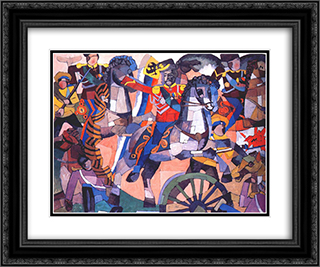 Victory battle 24x20 Black or Gold Ornate Framed and Double Matted Art Print by Aristarkh Lentulov