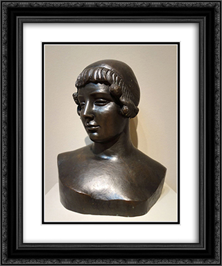 Bust of Venus 20x24 Black or Gold Ornate Framed and Double Matted Art Print by Aristide Maillol