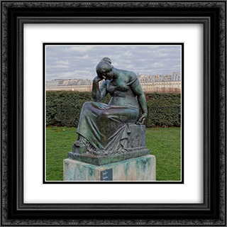 Douleur 20x20 Black or Gold Ornate Framed and Double Matted Art Print by Aristide Maillol