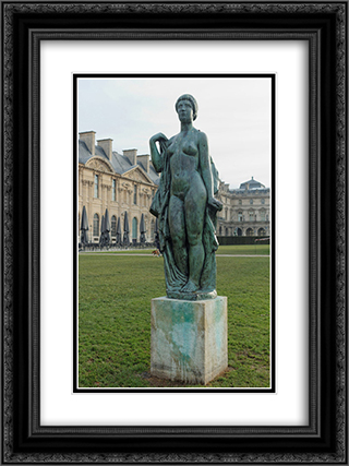 La Baigneuse drapee 18x24 Black or Gold Ornate Framed and Double Matted Art Print by Aristide Maillol