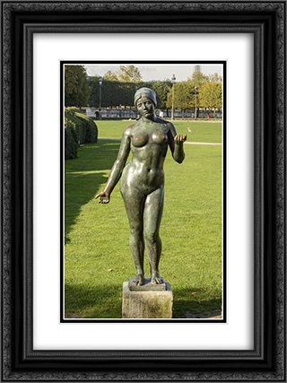 L'ete 18x24 Black or Gold Ornate Framed and Double Matted Art Print by Aristide Maillol