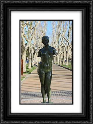 L'ete sans bras 18x24 Black or Gold Ornate Framed and Double Matted Art Print by Aristide Maillol