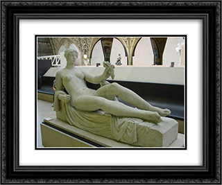 Monument a Paul Cezanne 24x20 Black or Gold Ornate Framed and Double Matted Art Print by Aristide Maillol