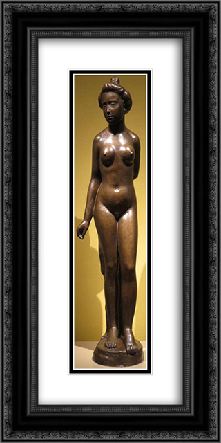 Nude (Venus) 12x24 Black or Gold Ornate Framed and Double Matted Art Print by Aristide Maillol
